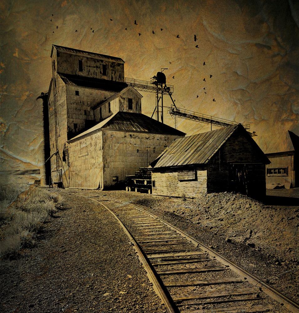An old General Mills grain elevator